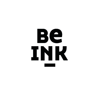 Be Ink logo zwart/wit